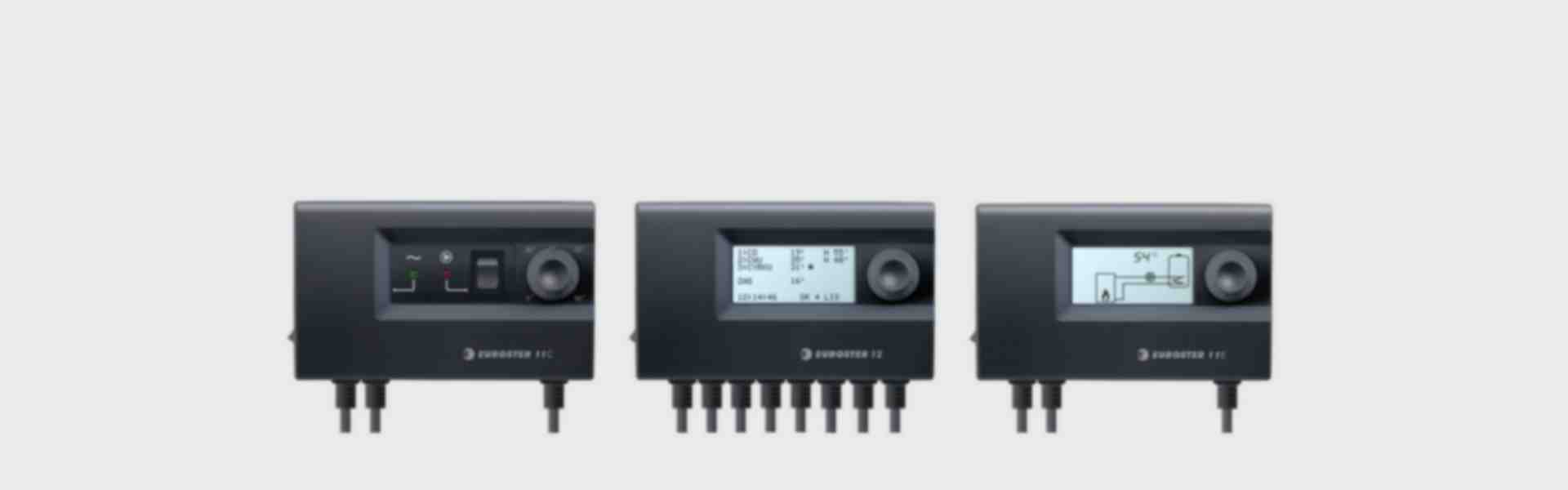 Central heating pump controllers